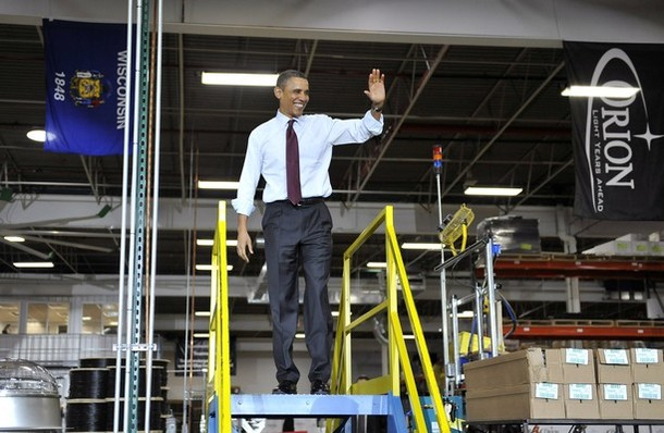 Presidents Obama Travels To Wisconsin