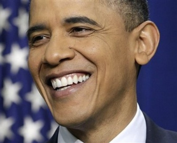 President Barack Obama smiles during a news conference on the White House complex  in Washington, Tuesday, Feb. 15, 2011. (AP Photo/Carolyn Kaster)